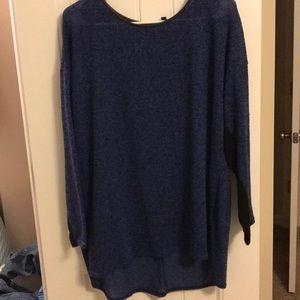 Long sleeve blue sweater